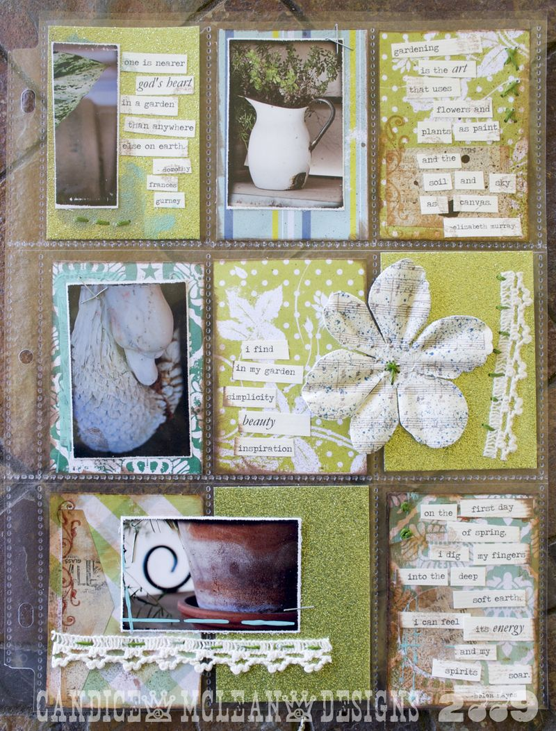 Flowers page protector