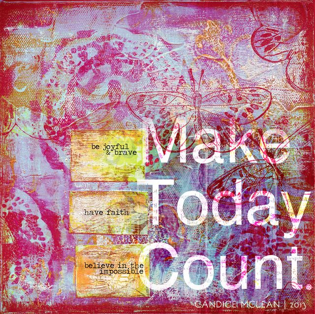 8x8 make today count print pink web